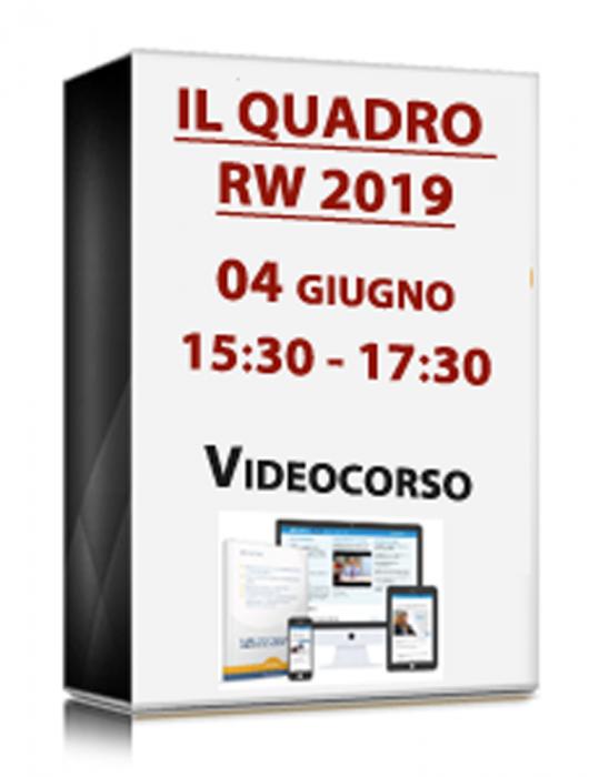 VideoCorso in diretta - Il quadro RW 2019