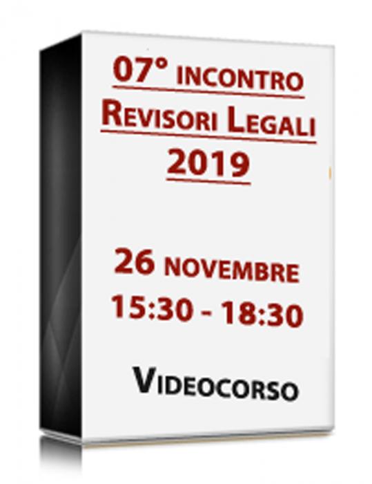 VideoCorso in diretta - 7° INCONTRO REVISORI 2019