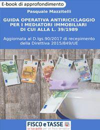 Guida operativa antiriciclaggio mediatori immobiliari