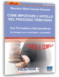 Come impostare l'appello nel processo tributario eBook