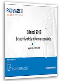Novità della riforma contabile Bilanci 2016 (Slides)