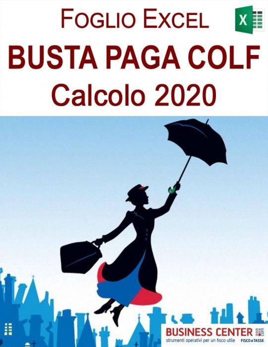 Busta Paga Colf 2020 - Foglio di calcolo (excel)