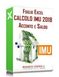 Calcolo IMU 2018: acconto e saldo (excel)