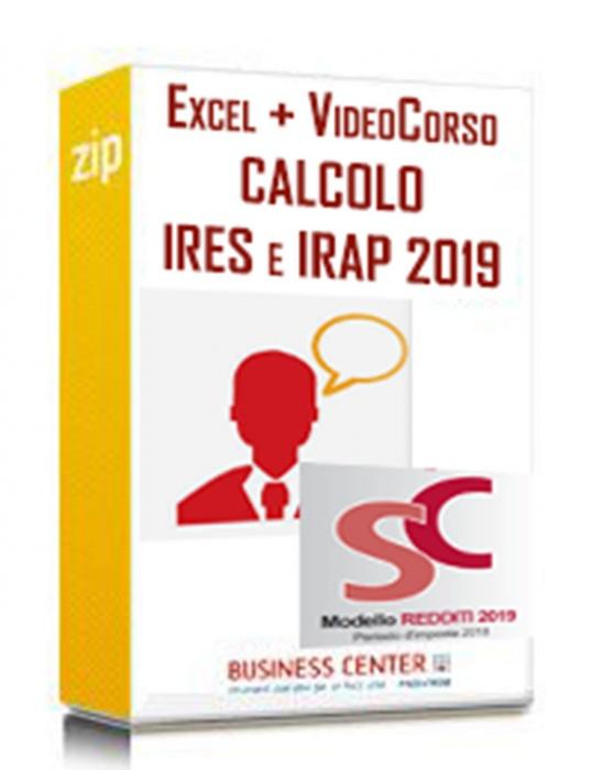 Calcolo IRES e IRAP 2019 (Excel + Videocorso)