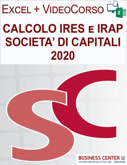 Calcolo IRES e IRAP 2020 (Excel + Videocorso)