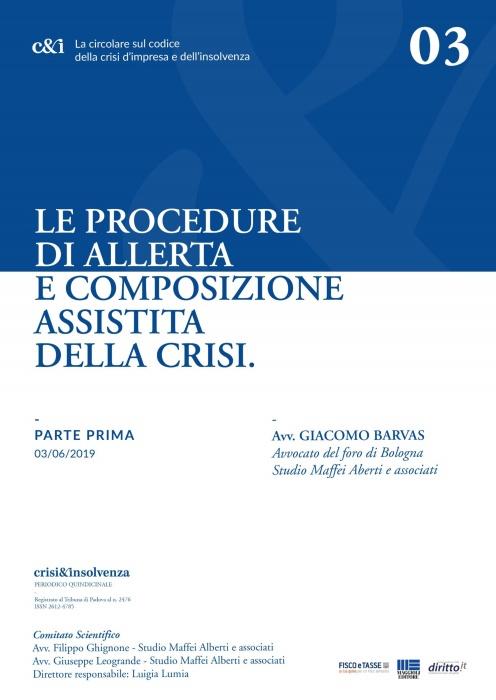 Procedure Allerta e Composizione Assistita Crisi - Pt 1