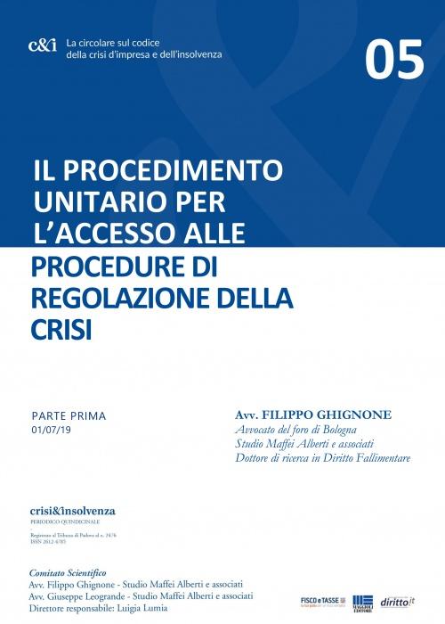 Accesso alle Procedure di regolazione della crisi - Pt1