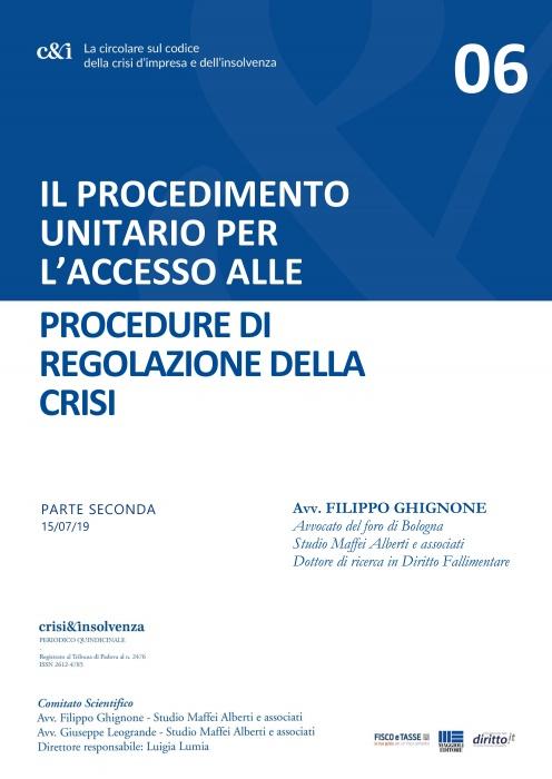Accesso alle Procedure di regolazione della crisi - Pt2