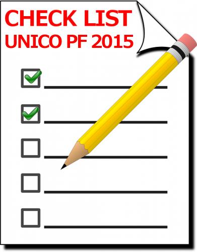 Novità Unico PF 2015 e Check list