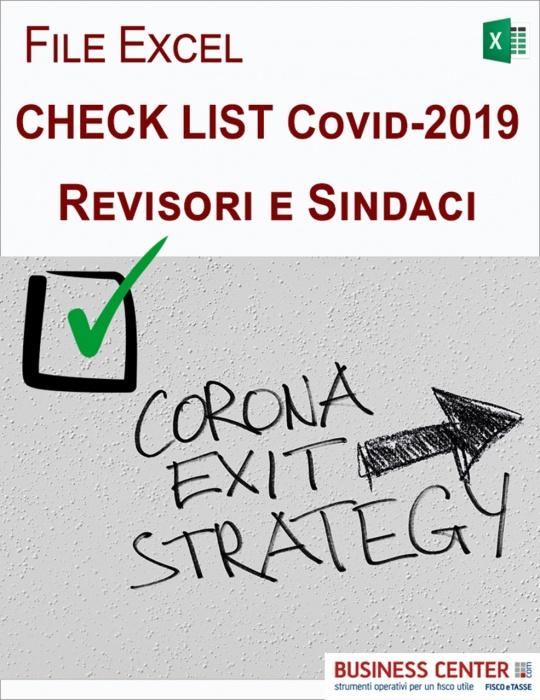 Check list Covid-19 per revisore e sindaci (Excel)