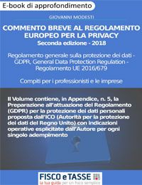 Commento breve al Regolamento europeo per la privacy