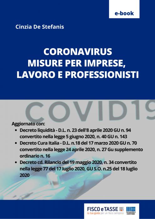 Coronavirus: misure per imprese lavoro e professionisti