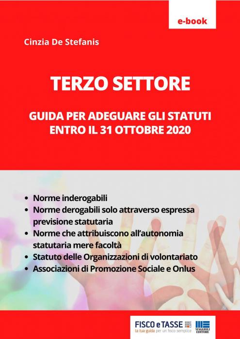 Terzo Settore: adeguamento Statuti entro il 31.10.2020