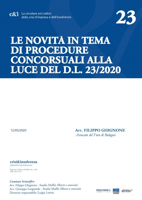 Le procedure concorsuali e novità del DL 23/2020
