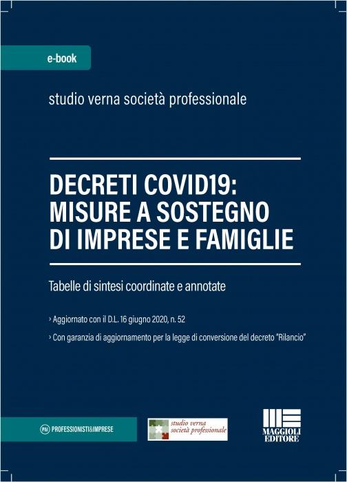 Decreti Covid19 Misure a sostegno di imprese e famiglie