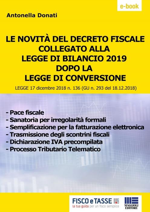 Decreto fiscale collegato Legge di Bilancio 2019