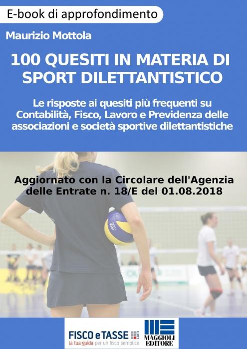 100 quesiti in materia di sport dilettantistico (eBook)