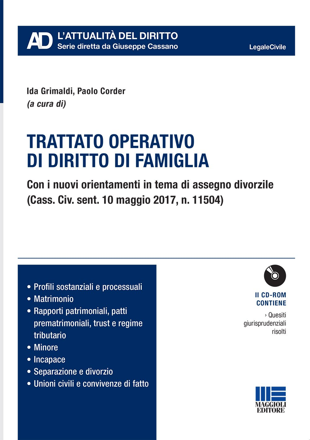 Trattato operativo di diritto di famiglia - Libro