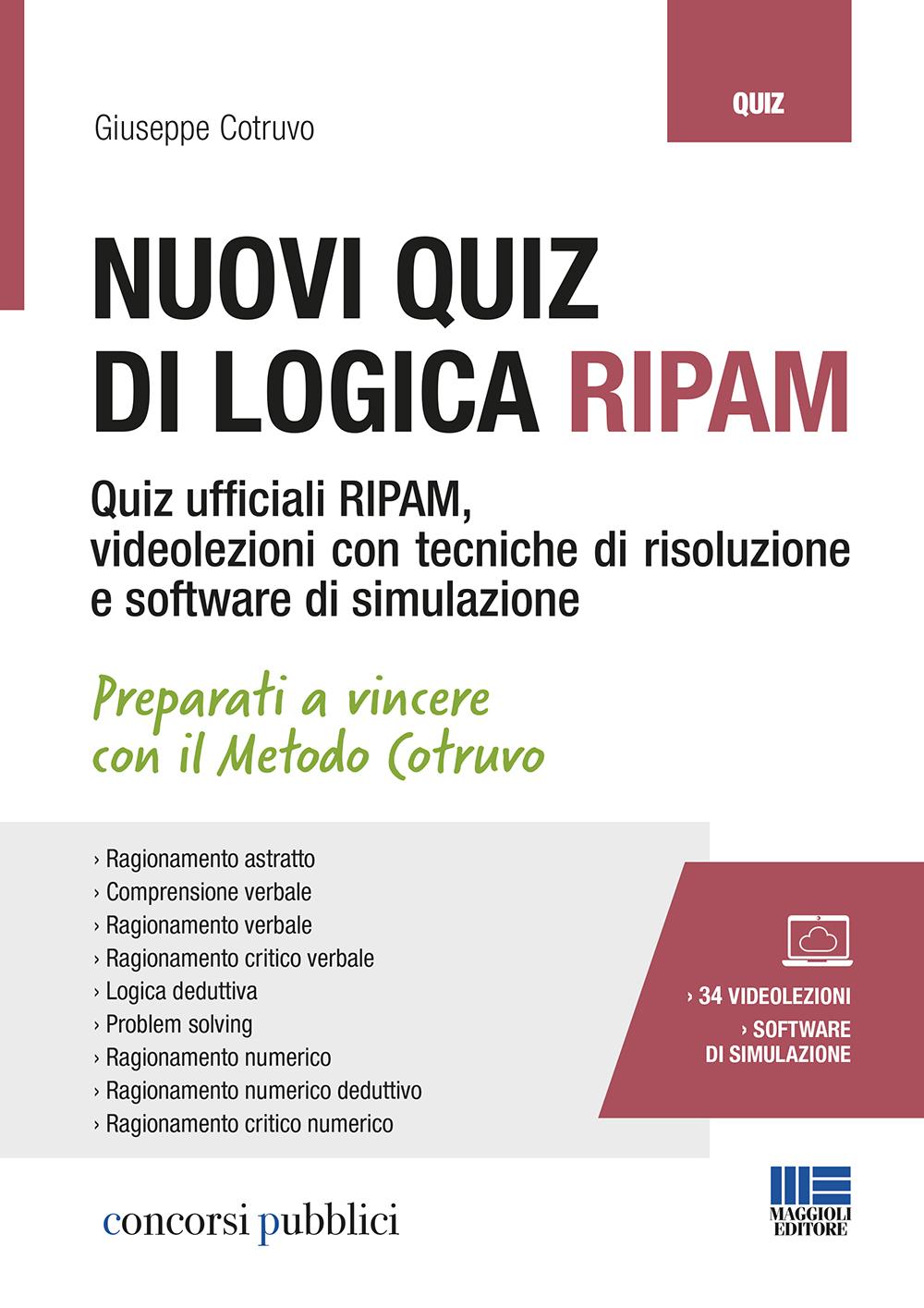 Nuovi quiz di logica concorsi RIPAM - Libro di carta