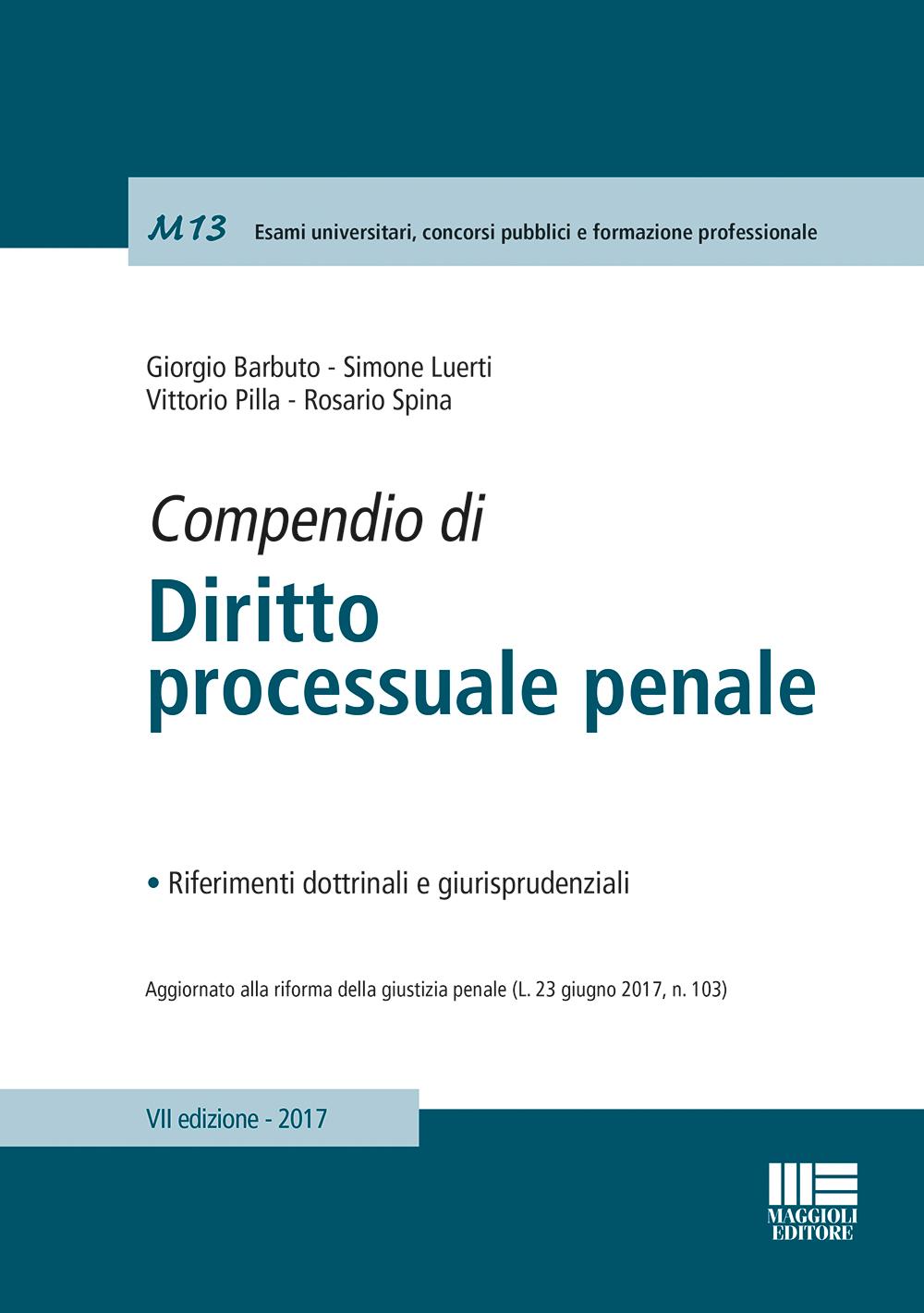 Compendio di Diritto processuale penale - Libro