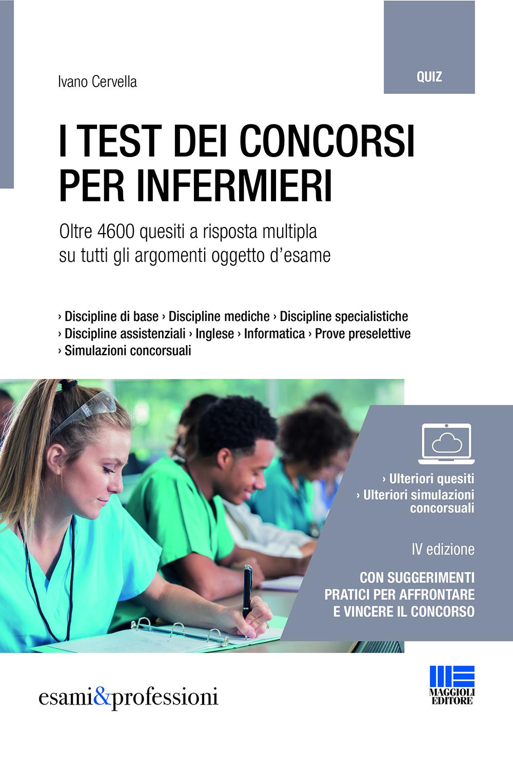 I test dei concorsi per infermieri - Libro di carta
