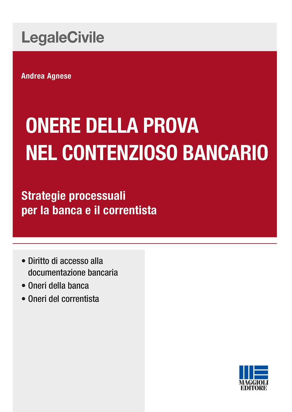 Onere della prova nel contenzioso bancario (Libro)