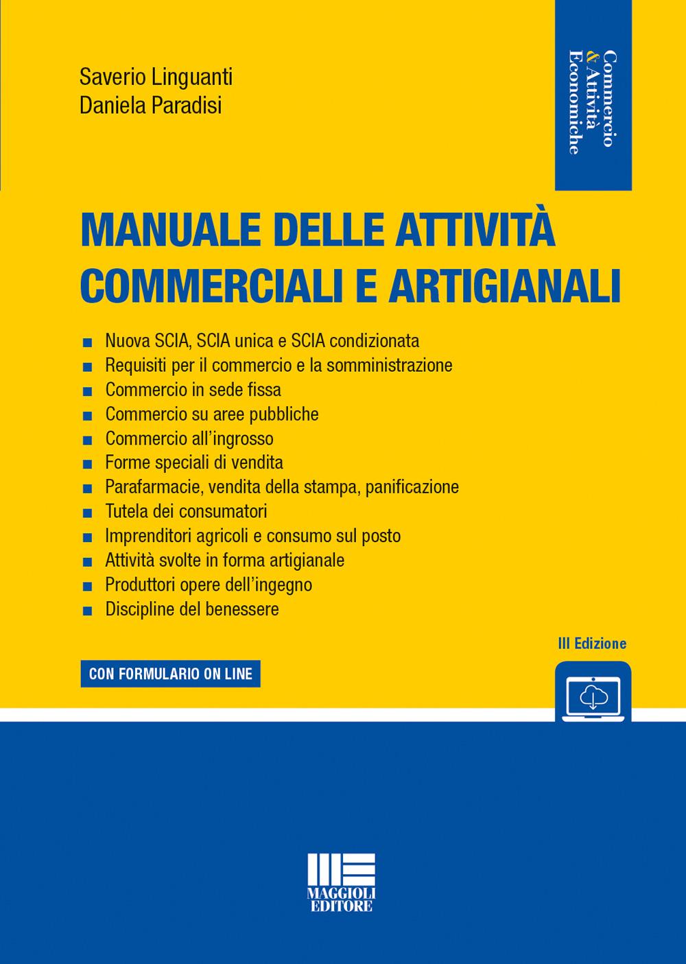 Manuale attività commerciali e artigianali Libro Carta
