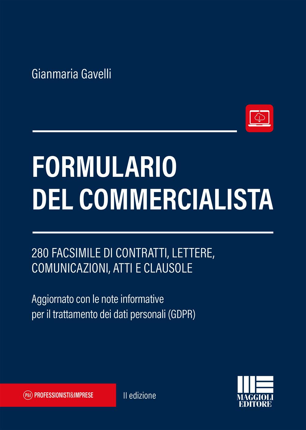 Formulario del commercialista - Libro Carta
