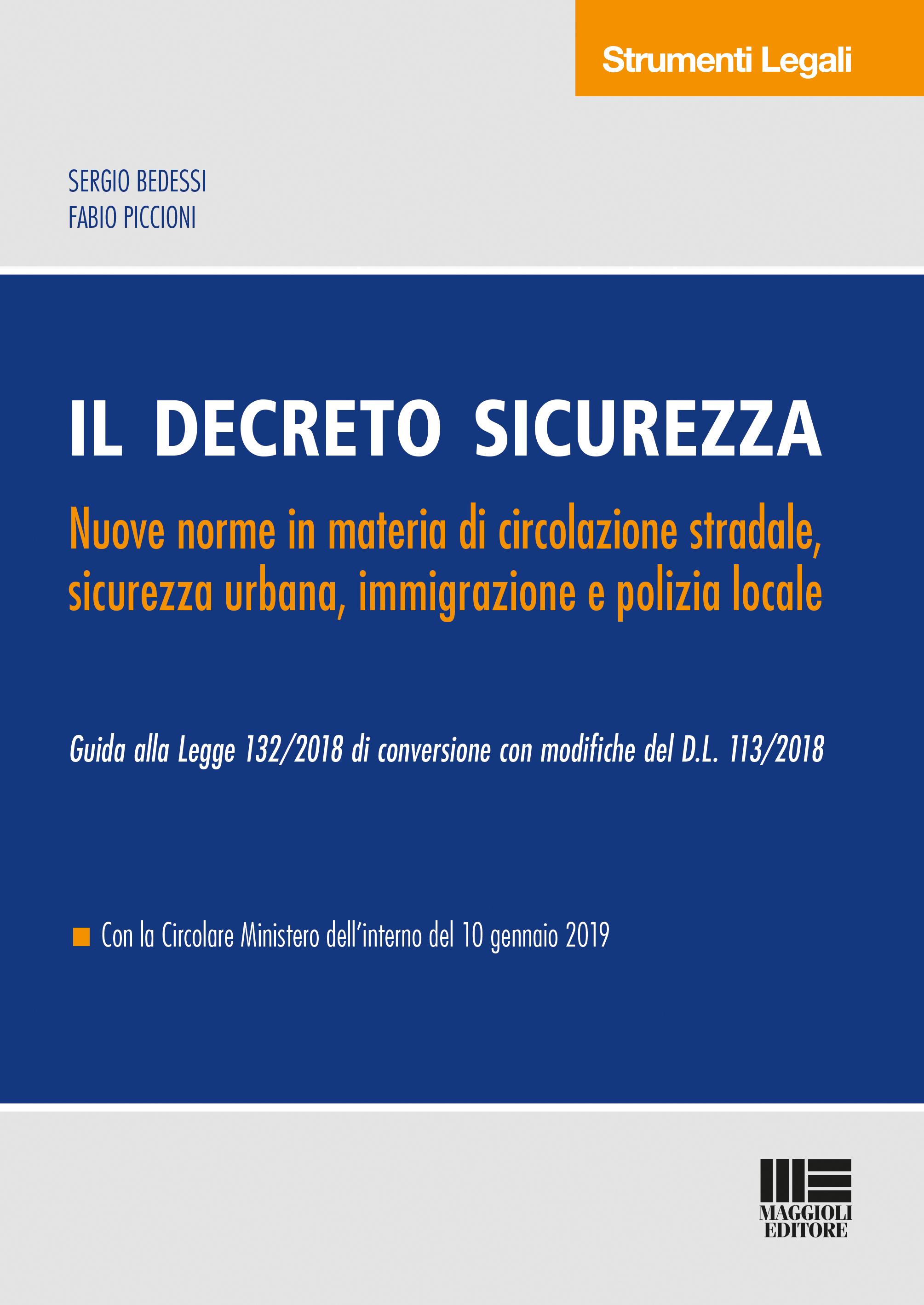 Il decreto sicurezza - Libro di carta