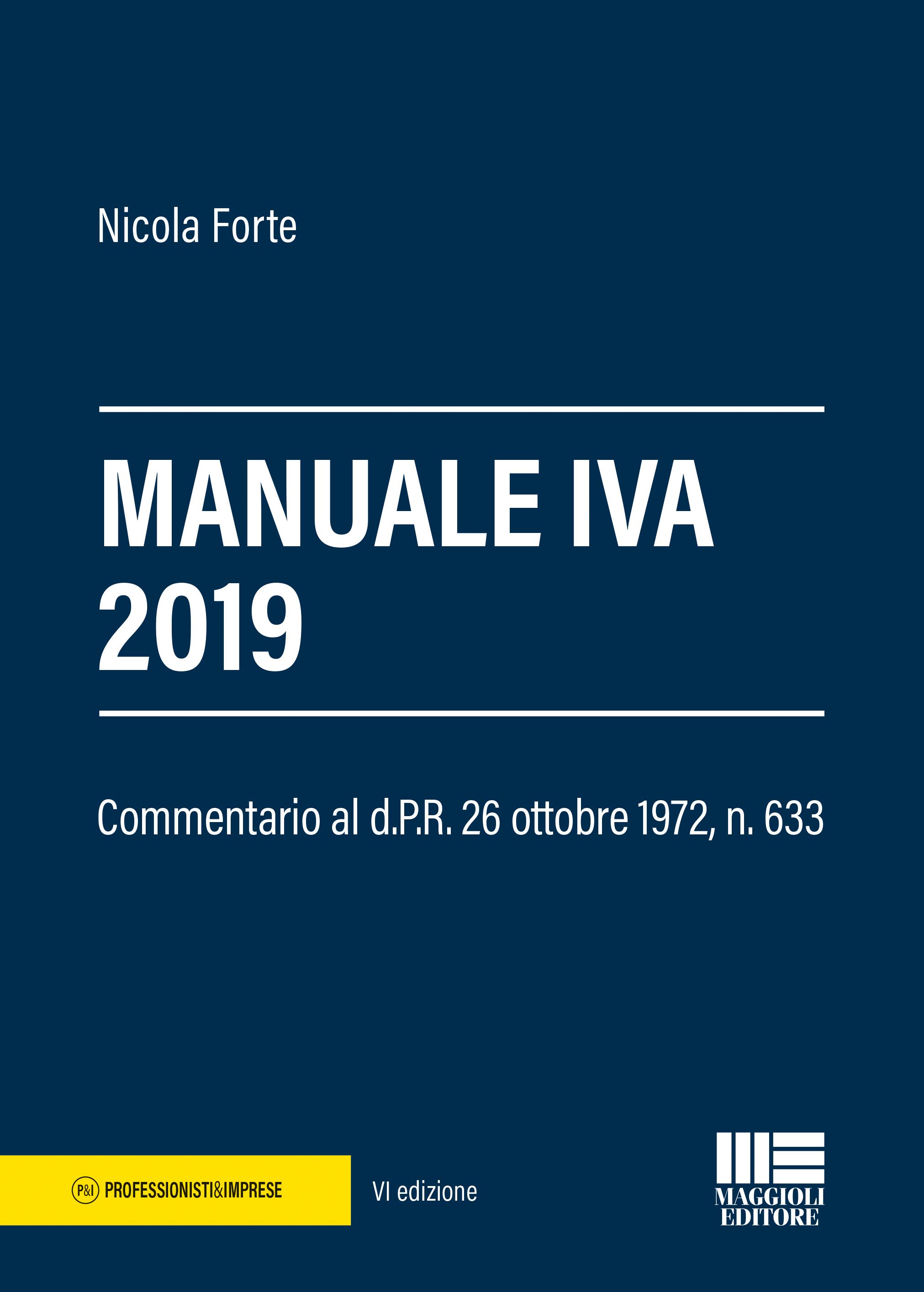 Manuale IVA 2019 - Libro carta