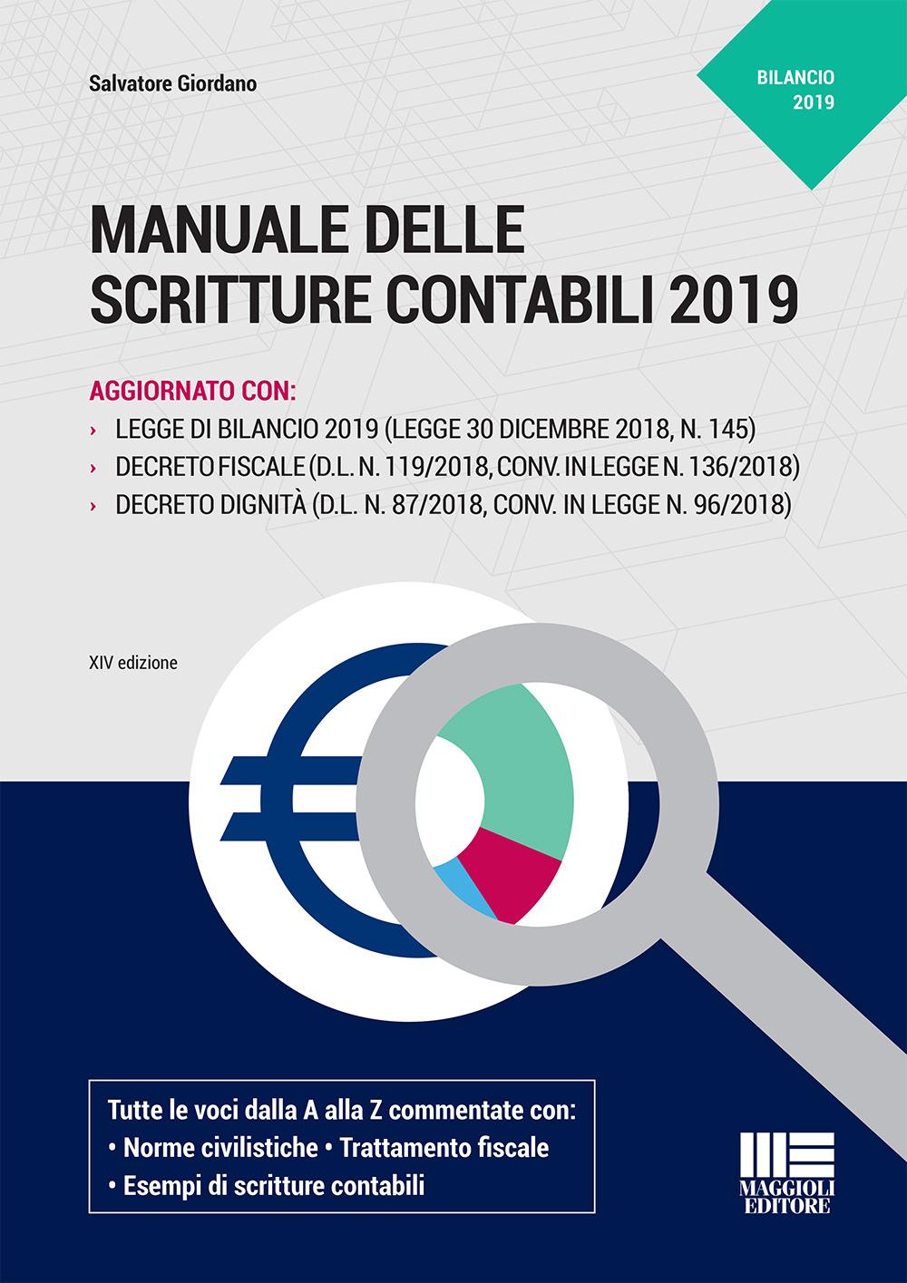 Manuale delle scritture contabili 2019 - Libro carta