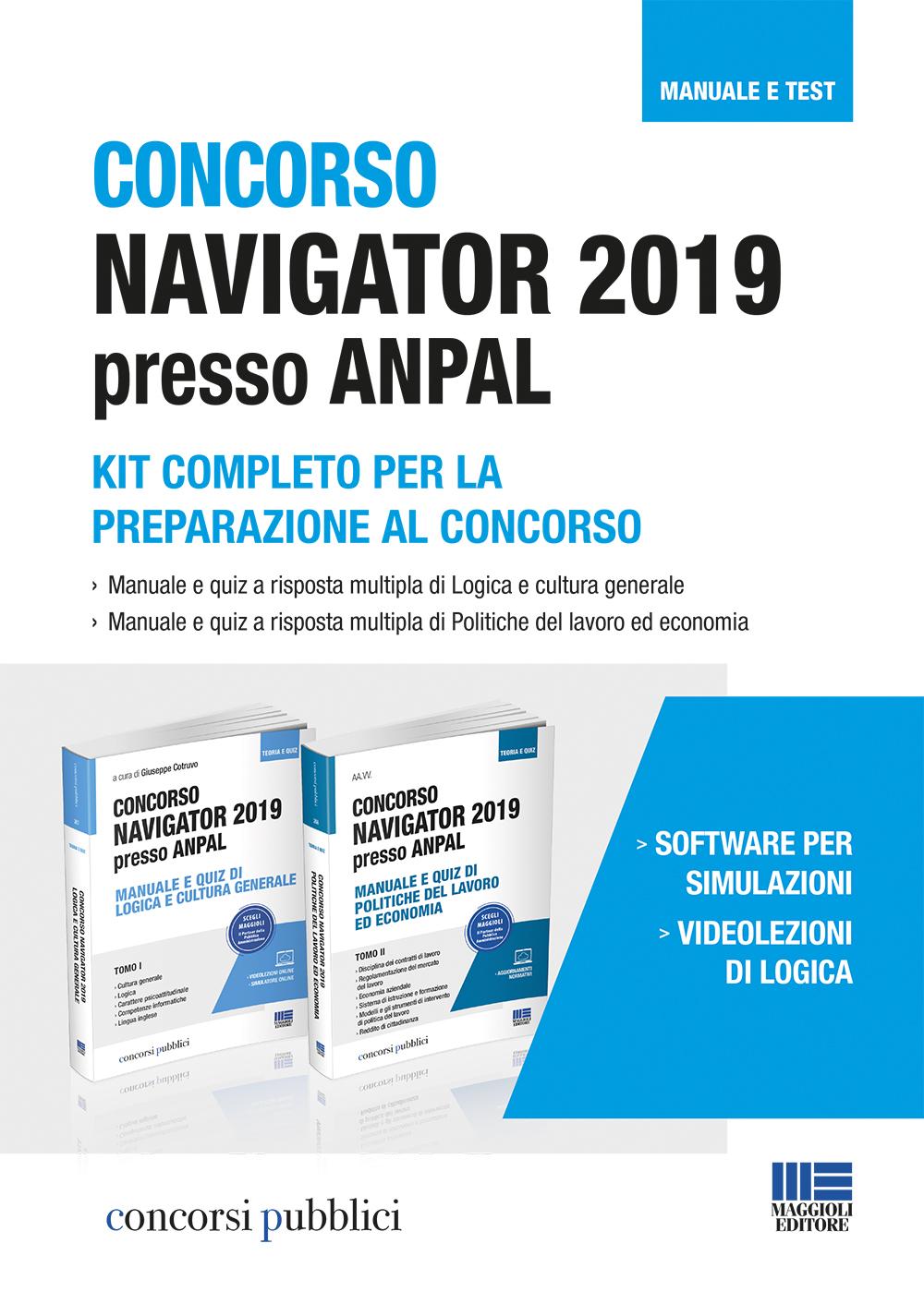 Concorso Navigator 2019 presso ANPAL kit completo