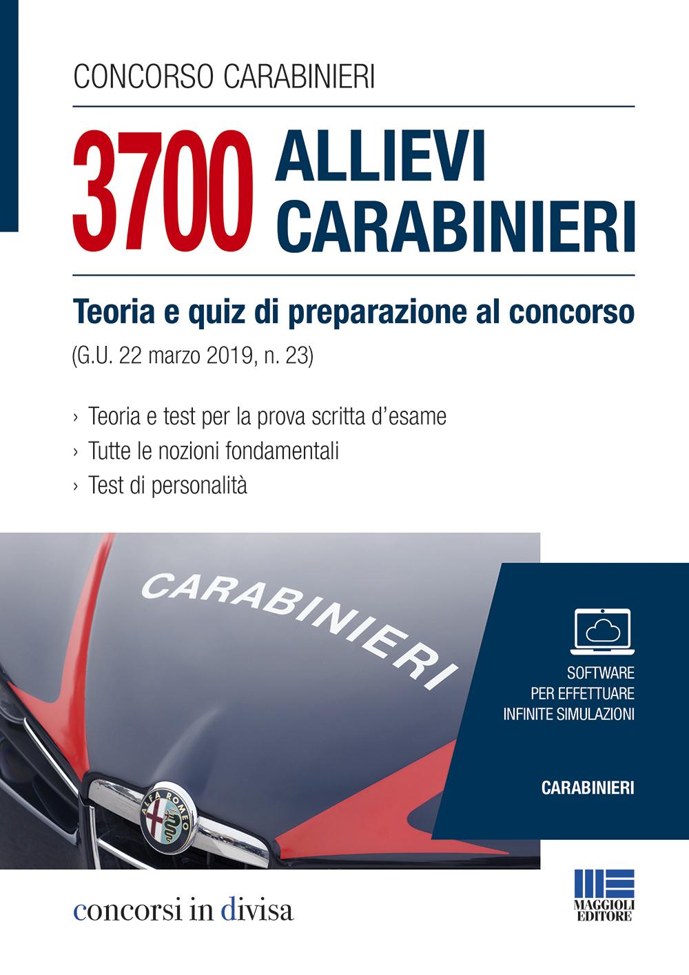 Concorso Carabinieri 3700 Allievi Carabinieri