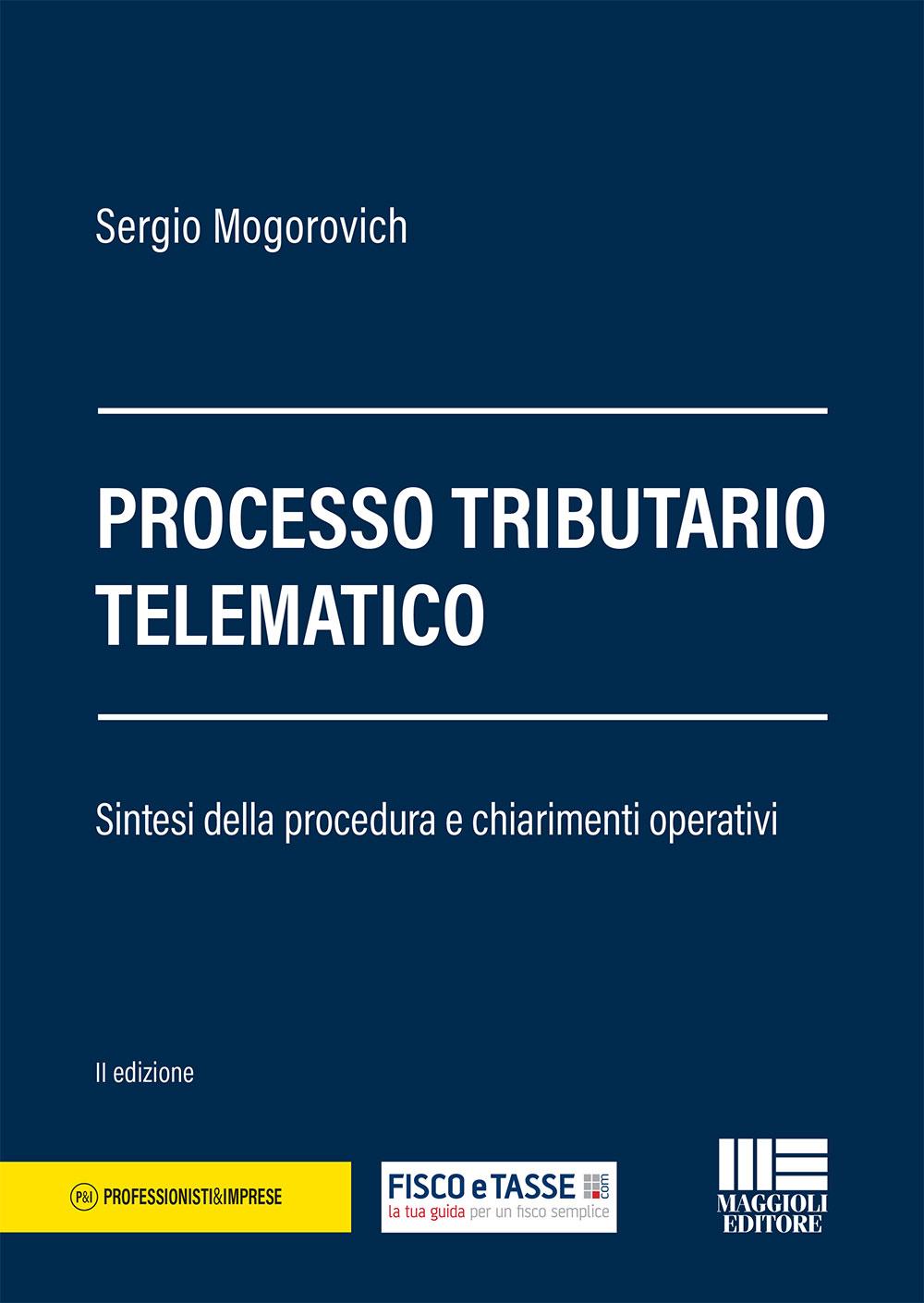 Processo tributario telematico - Libro di carta