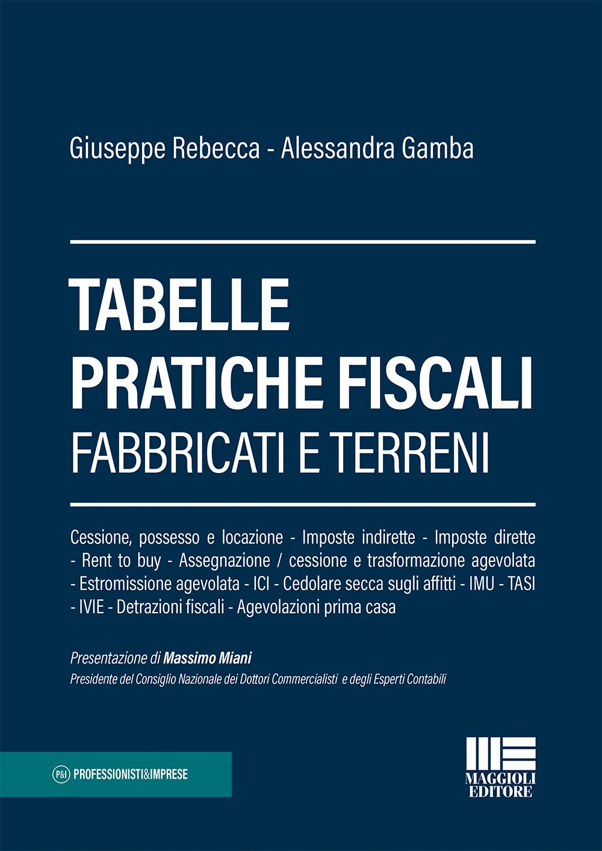 Tabelle pratiche fiscali Imposte fabbricati Libro Carta