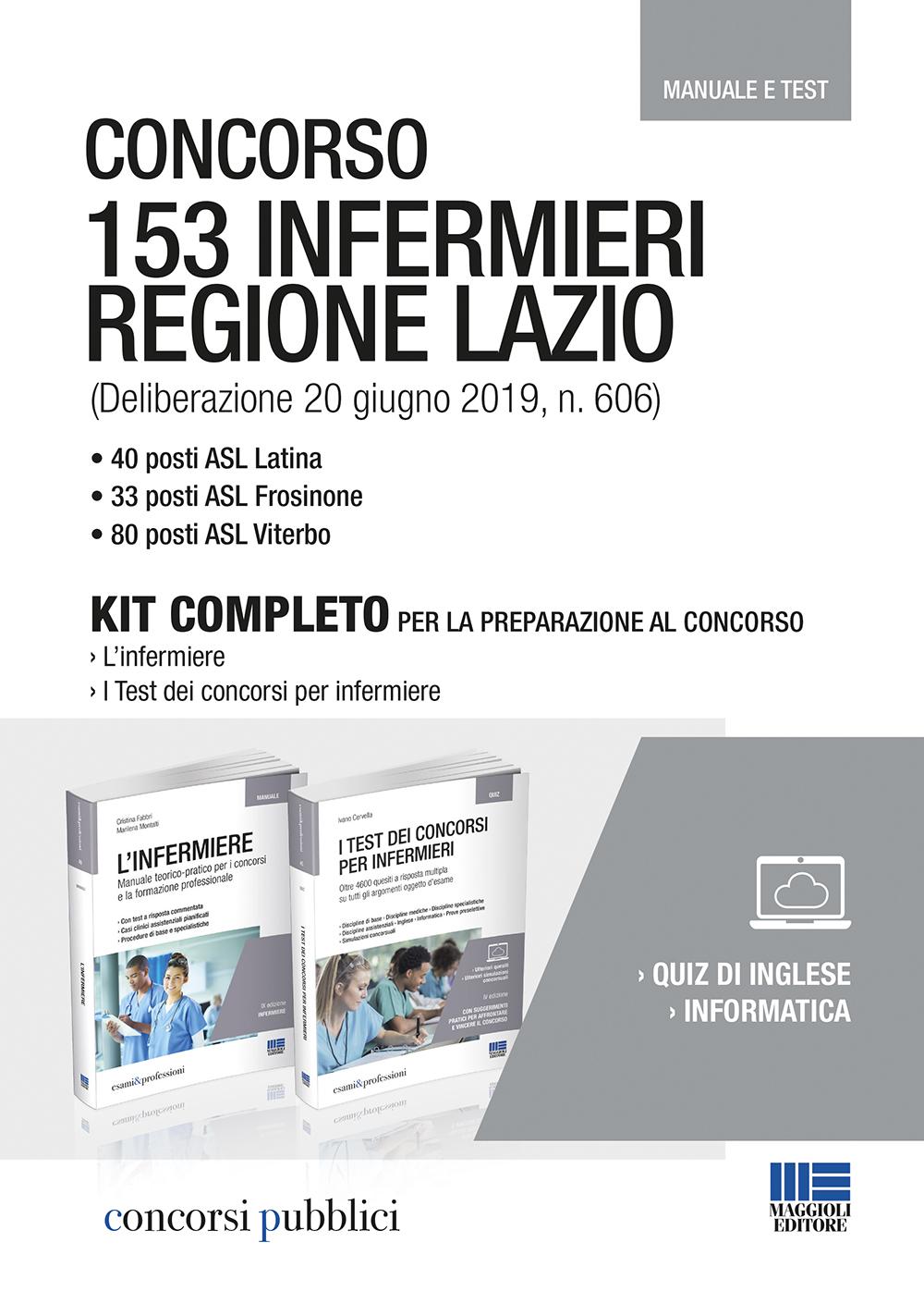 Concorso 153 infermieri Lazio - Manuale e quiz