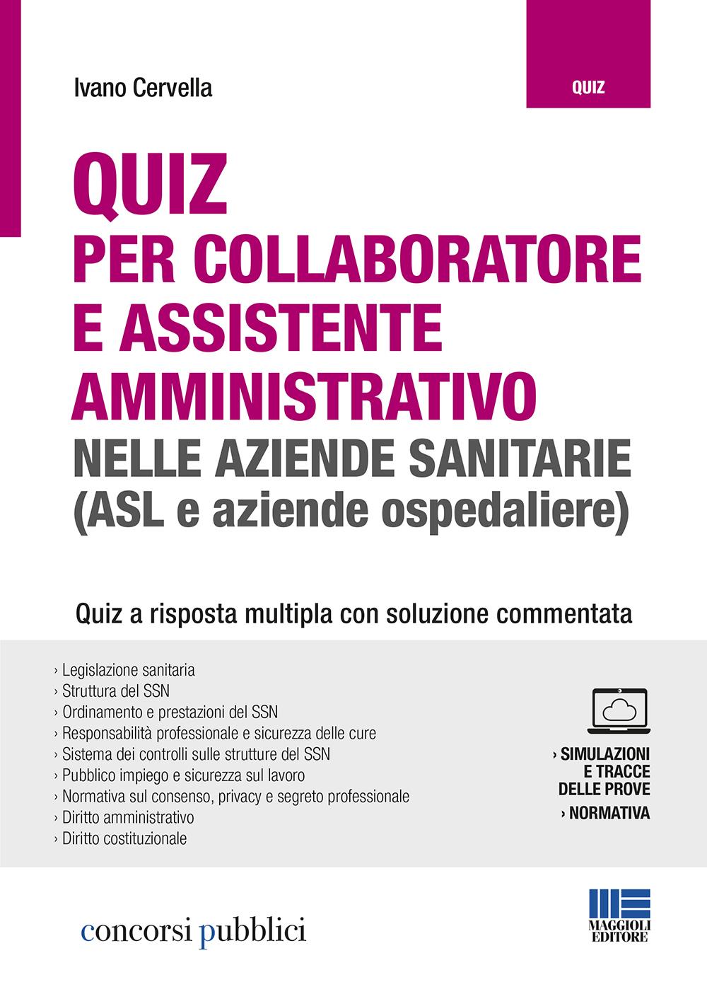 Quiz Collaboratore e Assistente amministr.nelle ASL