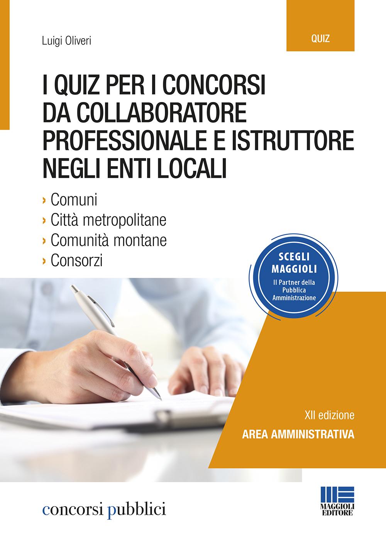 Quiz Concorsi Collaboratore professionale e istruttore