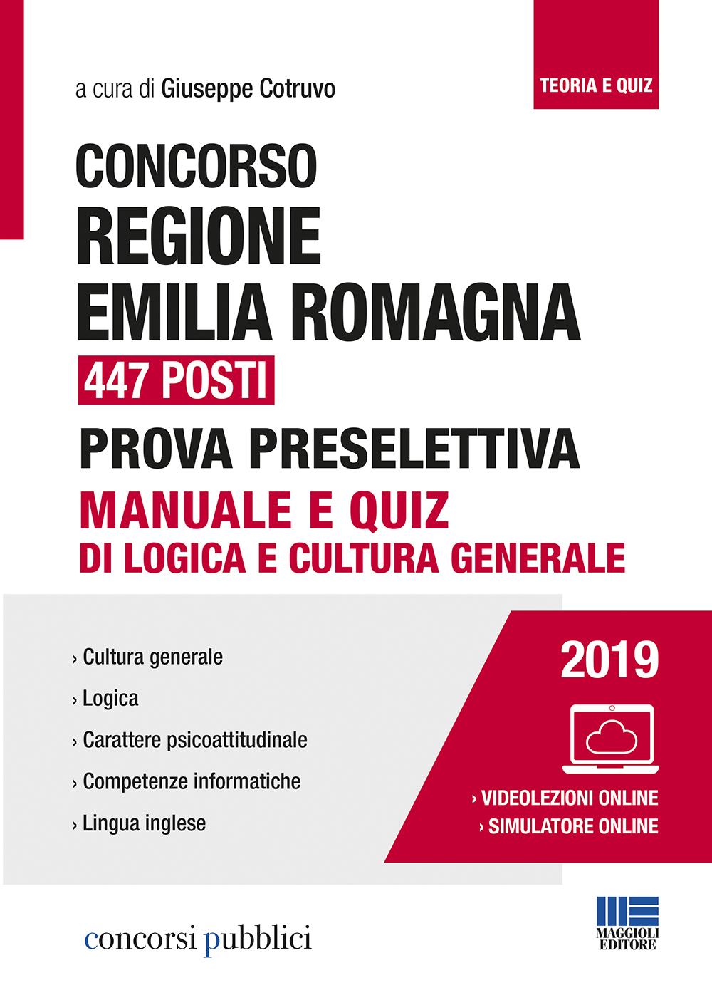 Concorso Regione Emilia Romagna 447 posti -Libro carta