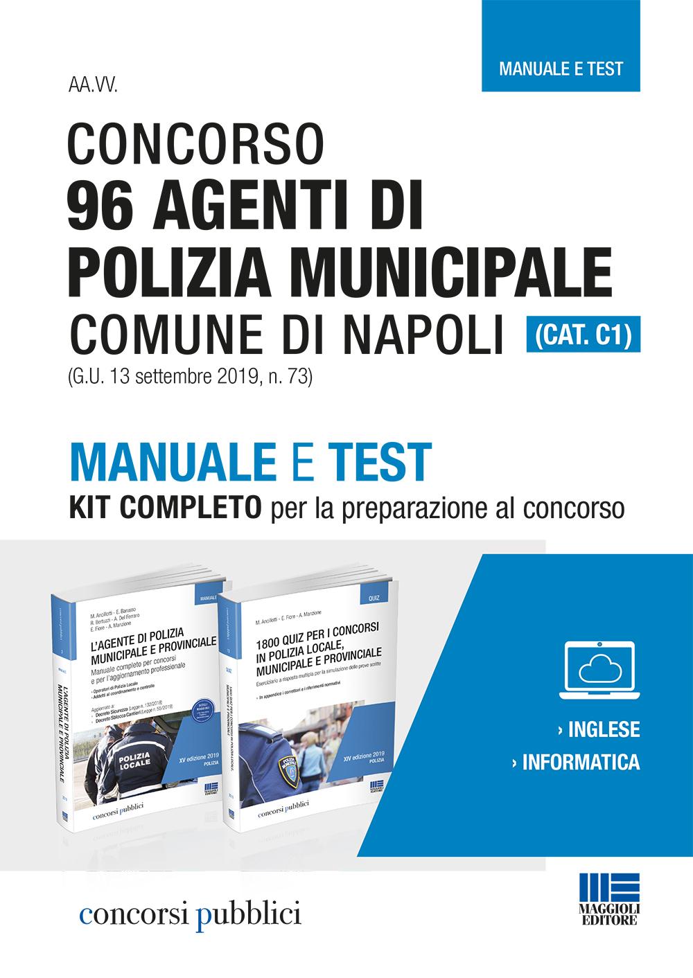 Concorso Polizia municipale Napoli - Libro di carta
