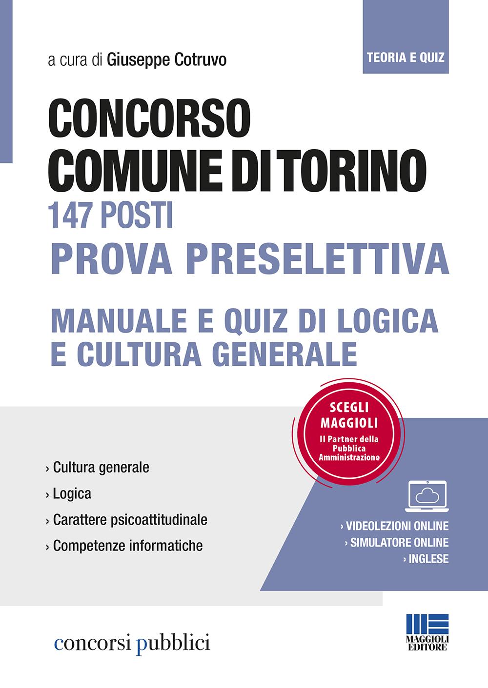 Concorso Comune di Torino 147 posti Manuale e Quiz