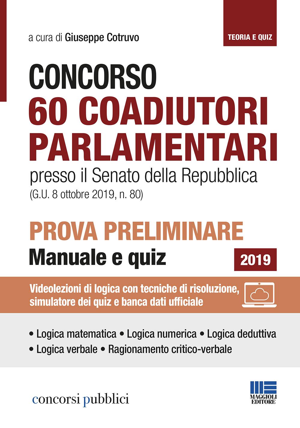 Concorso 60 Coadiutori parlamentari Senato