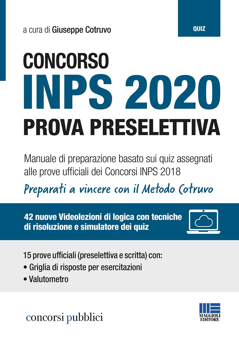 Concorso INPS 2020 - Manuale di preparazione
