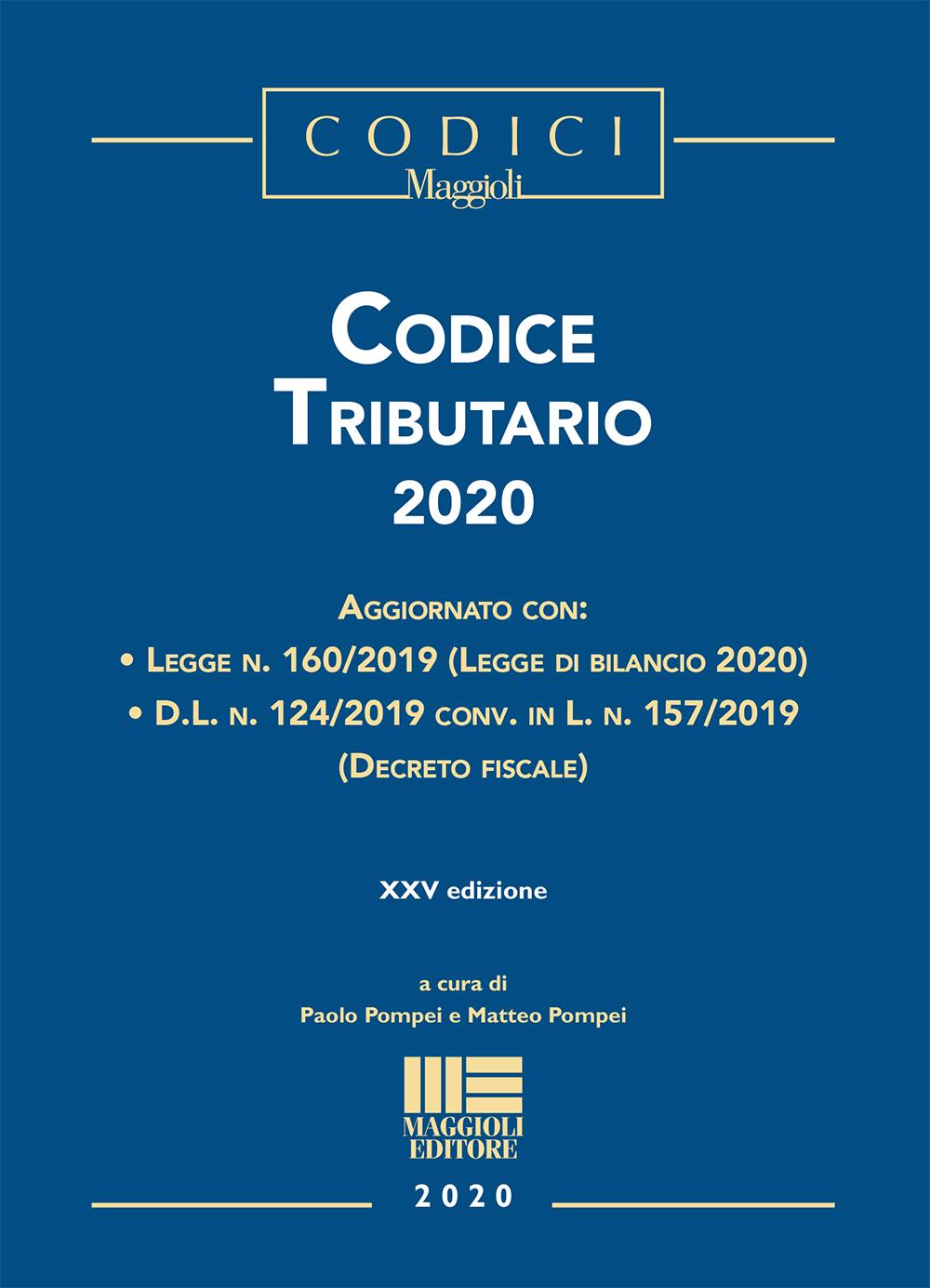 Codice Tributario 2020 - Libro Carta