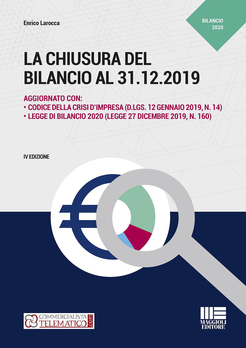 La chiusura del bilancio al 31.12.2019