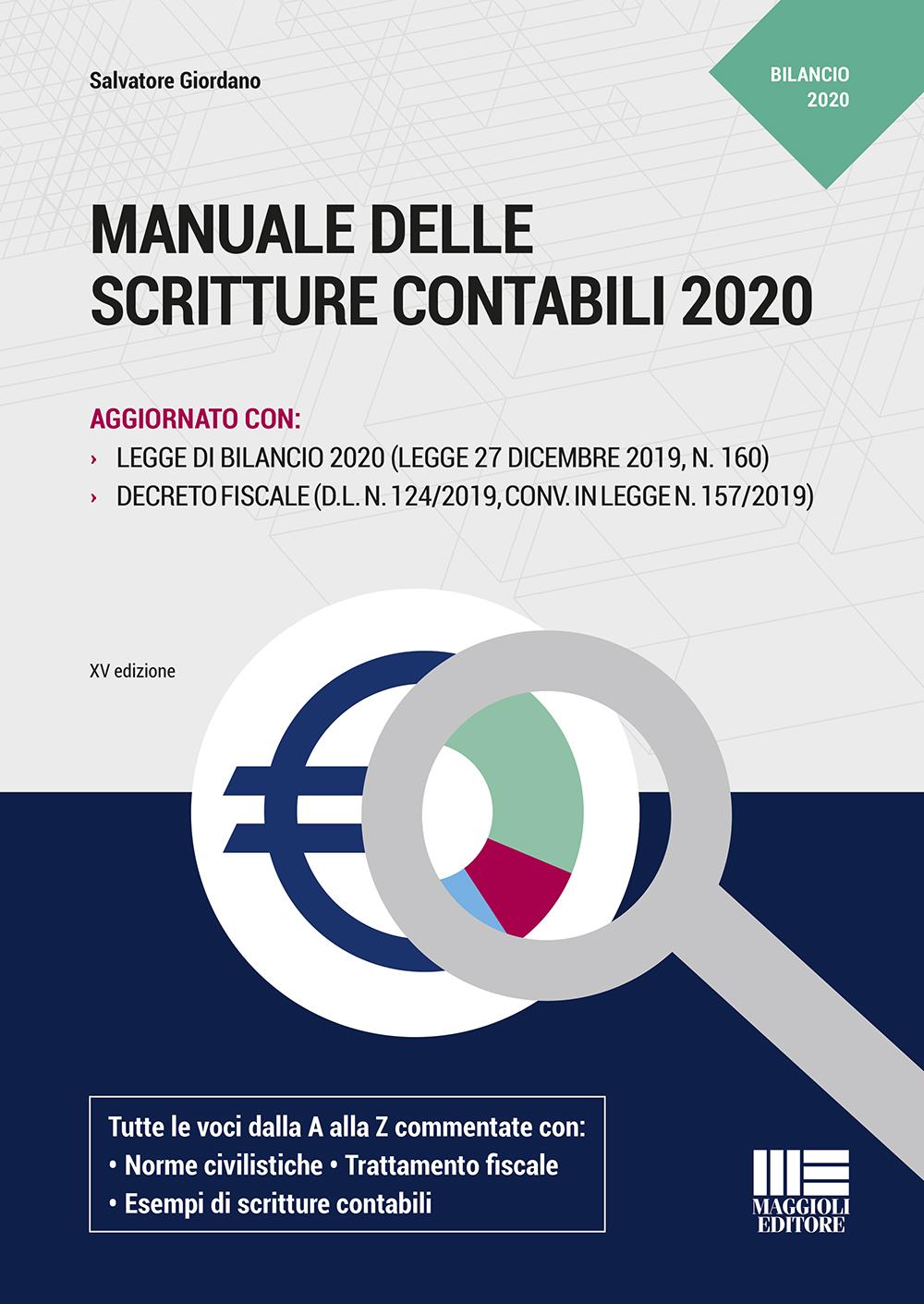 Manuale delle scritture contabili 2020 - Libro