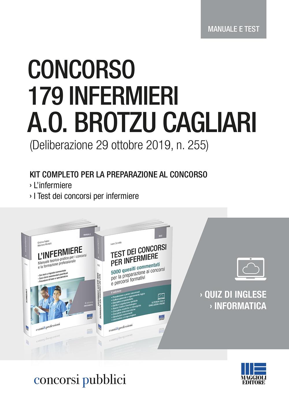 Concorso 179 Infermieri Cagliari 2019 - Libri carta