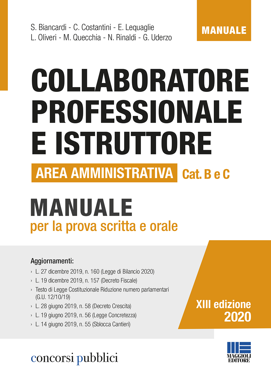 Collaboratore prof. e Istruttore Area Amministrativa