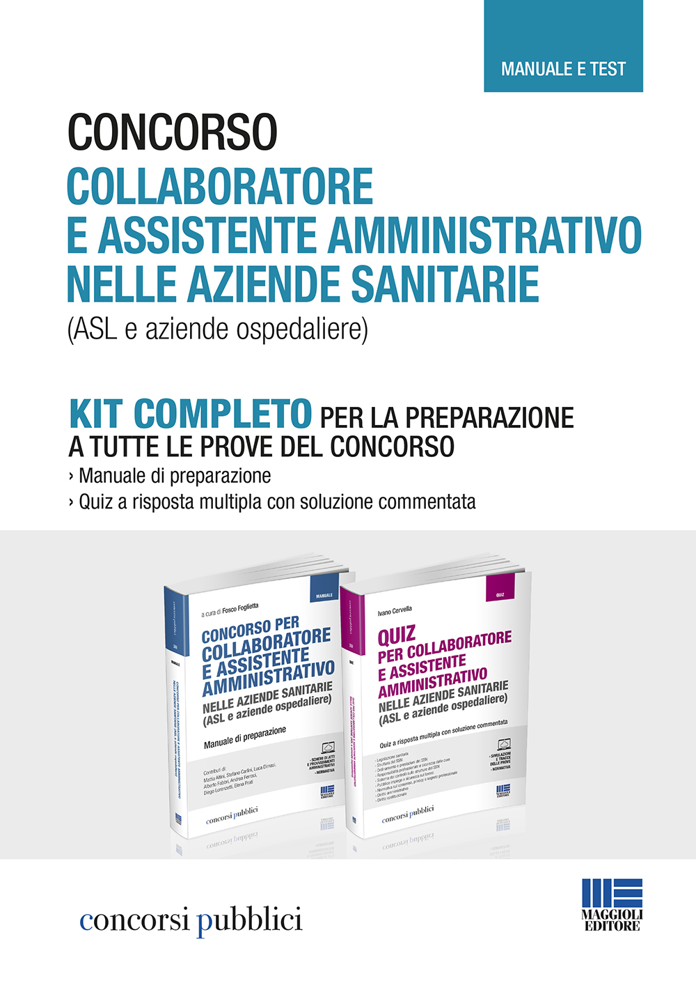 KIT preparazione Concorsi per  amministrativi nelle ASL