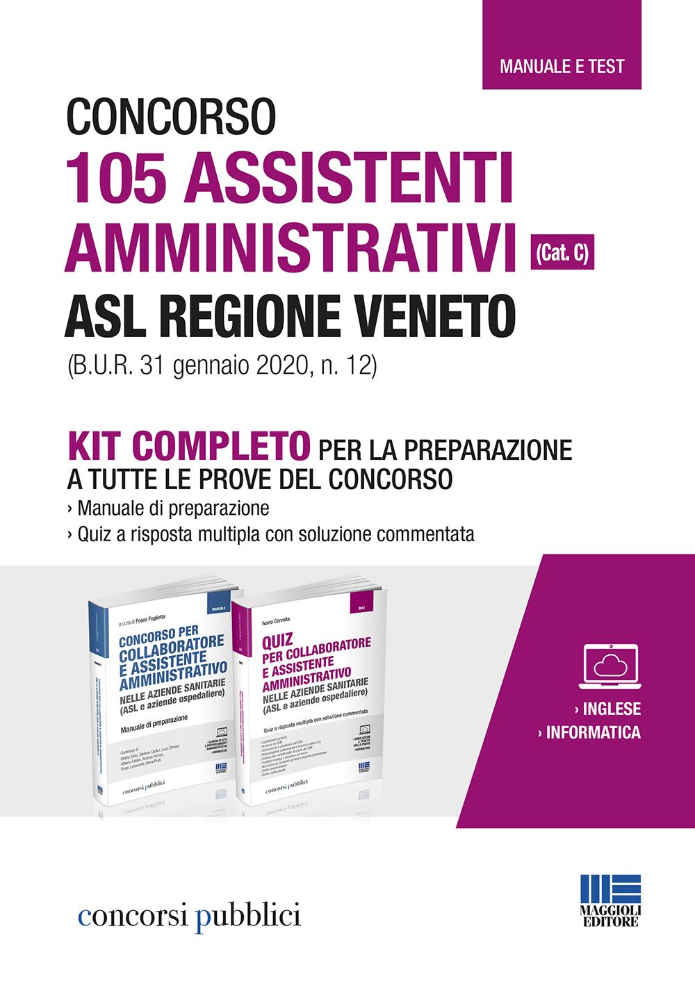 Concorso 105 Assistenti amministrativi ASL  Veneto